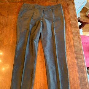 Talbots Silk Sz 8 Black Pants pin-tuck front seam